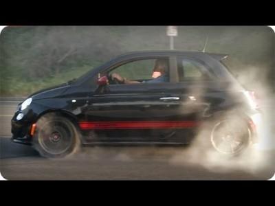 Jay Leno a Fiat 500 Abarth