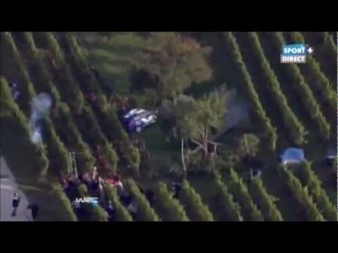 Rally Francie: Jak se Solberg  projel vinohradem