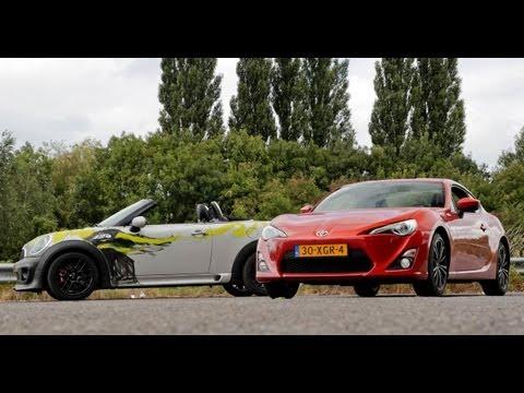 Video: Toyota GT86 vs MINI Roadster JCW