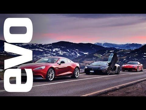 Video: Ferrari F12 vs Lamborghini Aventador vs Aston Martin Vanquish