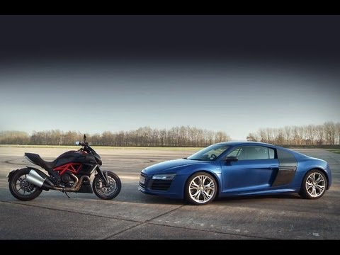 Video: Audi R8 V10 Plus vs Ducati Diavel